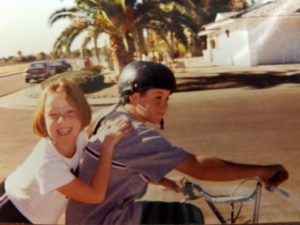 McKenna and Noah on a bike