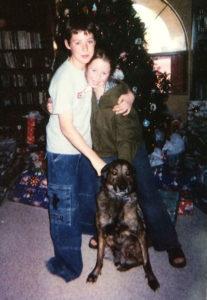 Noah and McKenna with Wolfie